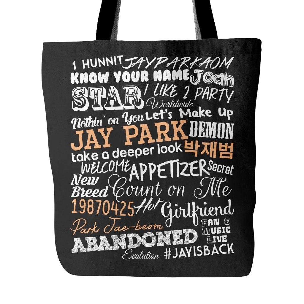 "JAY PARK ""COLLAGE"" Tote Bags - MYKPOPMART"