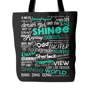 "SHINee ""COLLAGE"" Tote Bags - MYKPOPMART"