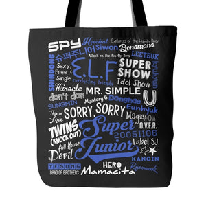 "SUPER JUNIOR ""COLLAGE"" Tote Bags - MYKPOPMART"