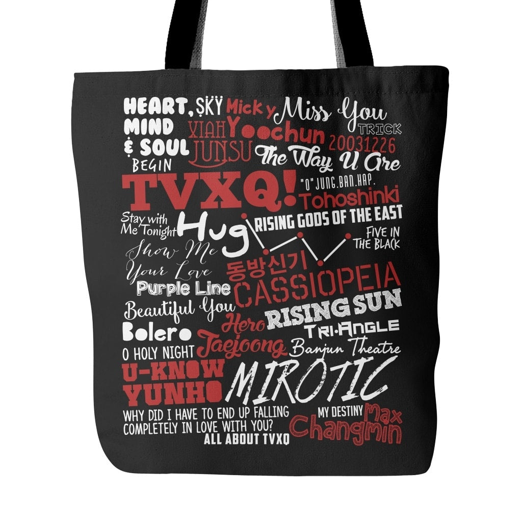 "TVXQ ""COLLAGE"" Tote Bags - MYKPOPMART"