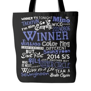 "WINNER ""COLLAGE"" Tote Bags - MYKPOPMART"
