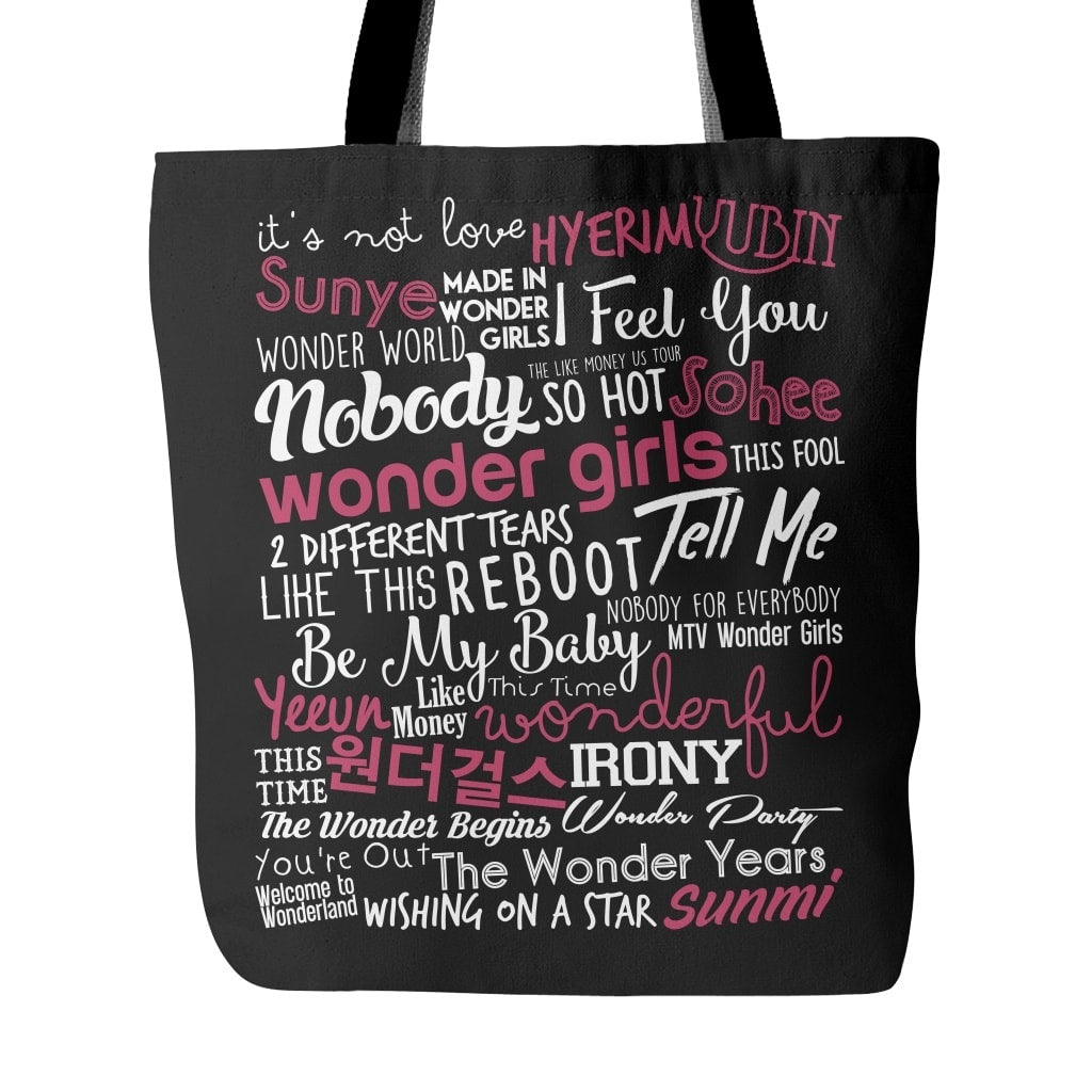 "WONDER GIRLS ""COLLAGE"" Tote Bags - MYKPOPMART"