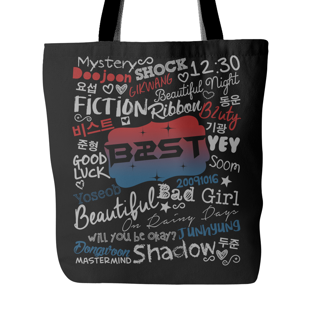 "BEAST ""COLLAGE"" 2016 Tote Bags - MYKPOPMART"