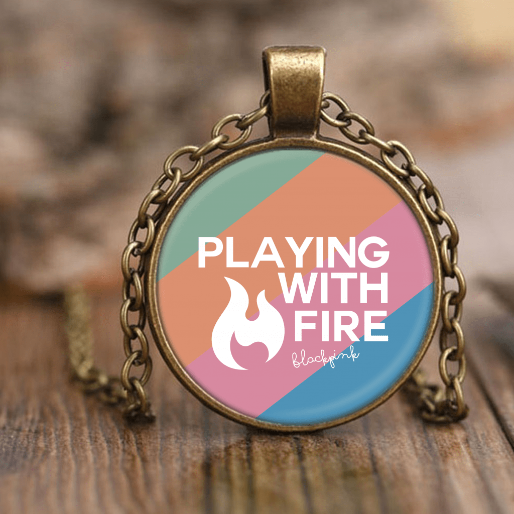 "BLACKPINK ""PLAYING WITH FIRE"" Necklaces - MYKPOPMART"