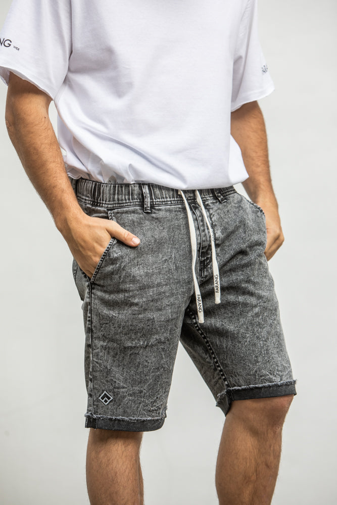 ESSENTIAL - STRETCH SHORTS - LIGHT GREY