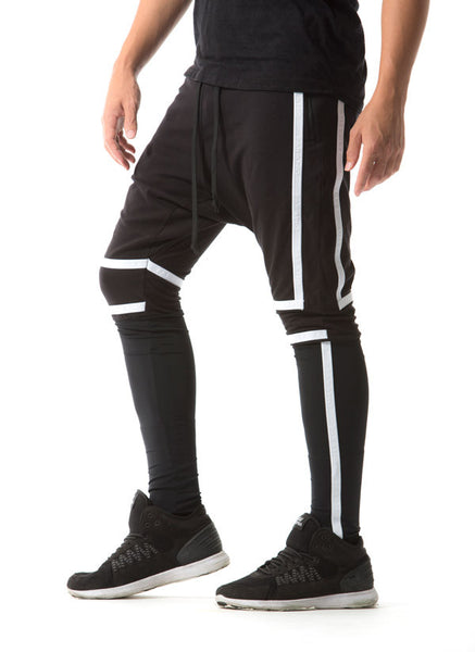 BORDER - HAREM PANTS - (BLACK)