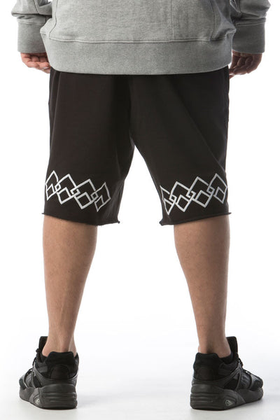LOGO CHAIN - SHORTS - WHITE ON BLACK