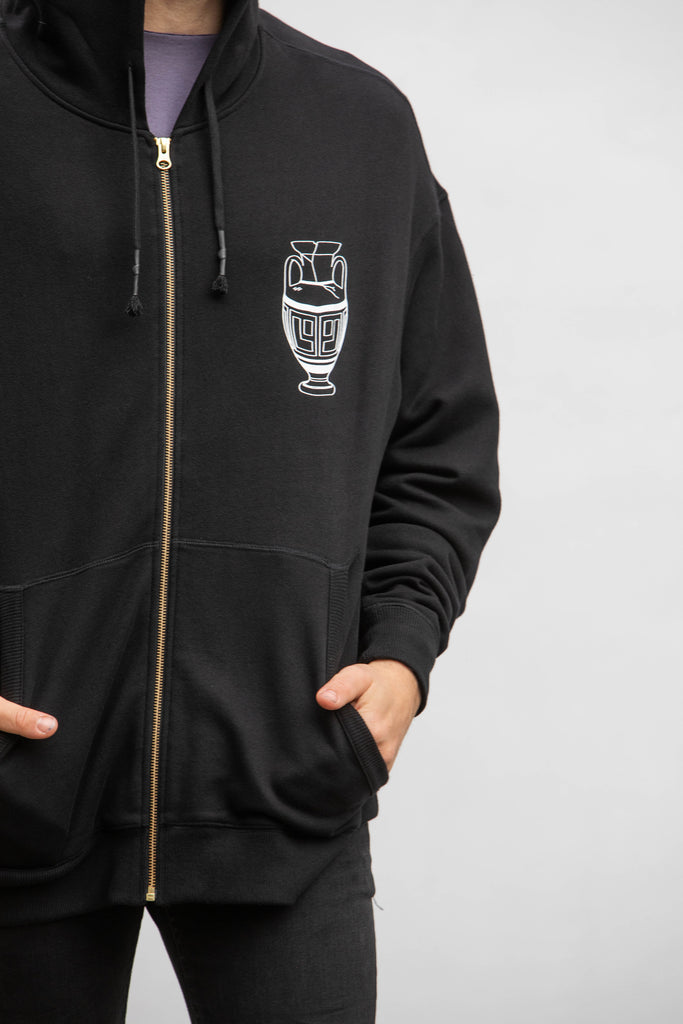 RETURN TO THE CLASSICS - ZIP-HOODIE - BLACK