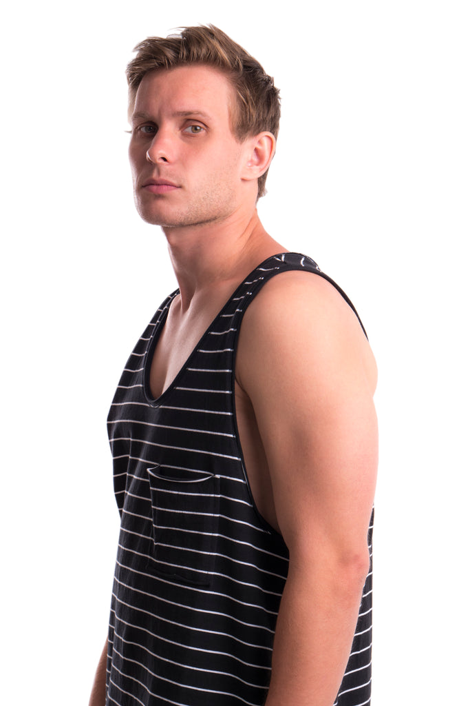 DIVISION - TANK TOP - BLACK / WHITE