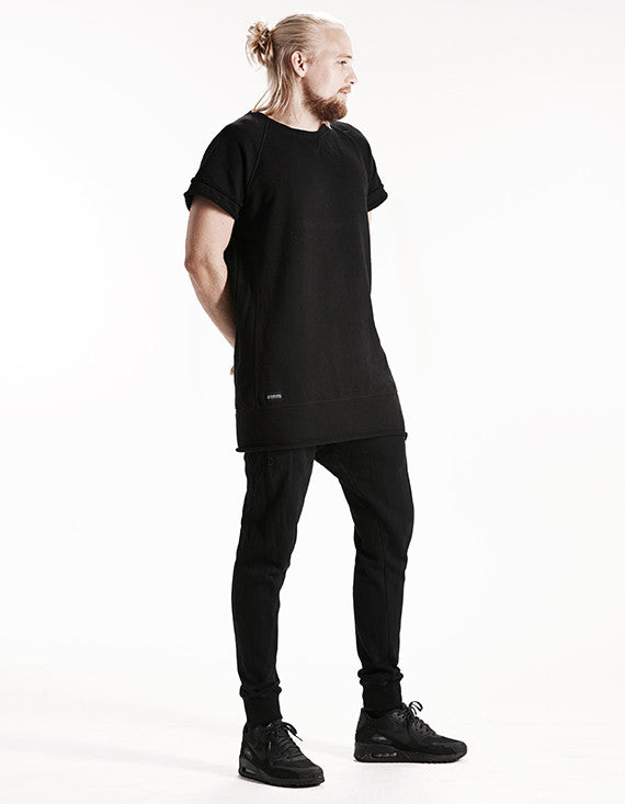 HEAVY - RAGLAN TEE - (BLACK)