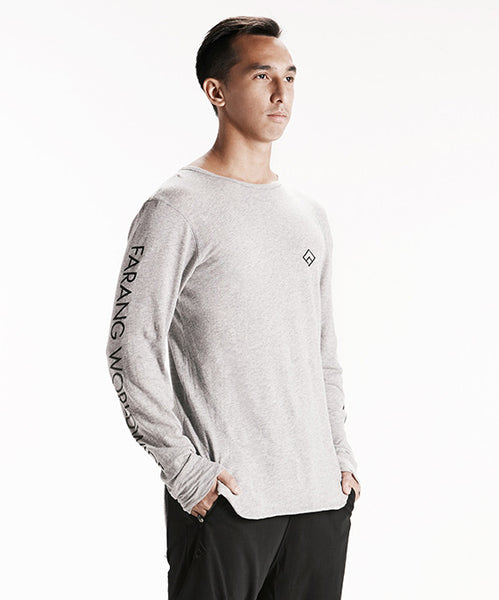 LOGO CHAIN - LONG SLEEVE - (GREY)