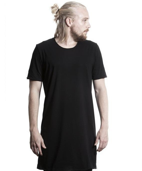TALL TEE - (WHITE ON BLACK)