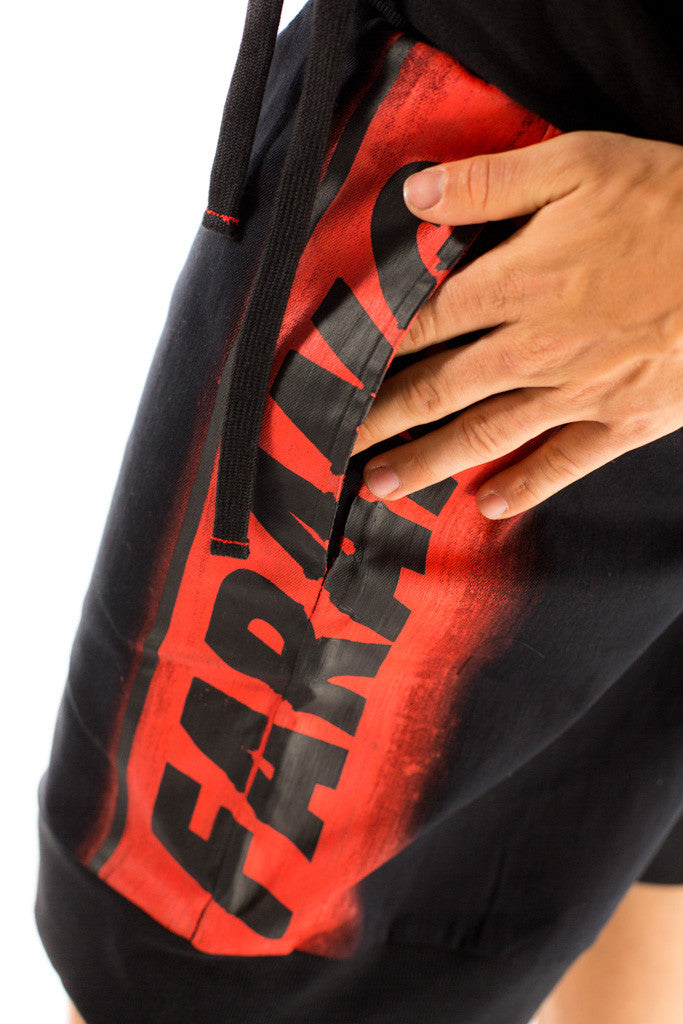 SKYLINE - SHORTS - (BLACK/RED)