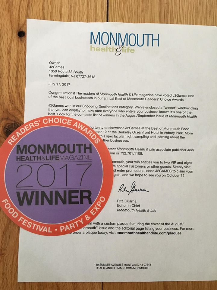 Winner: Best of Monmouth County - Shopping Destination 2017!