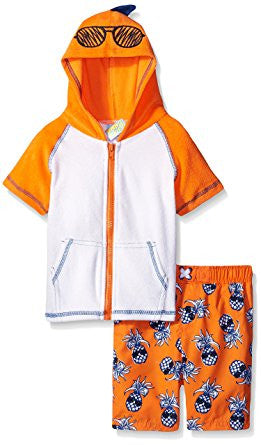 Baby Buns Boys' Crazy Hair Don't Care Terry Cover up Set