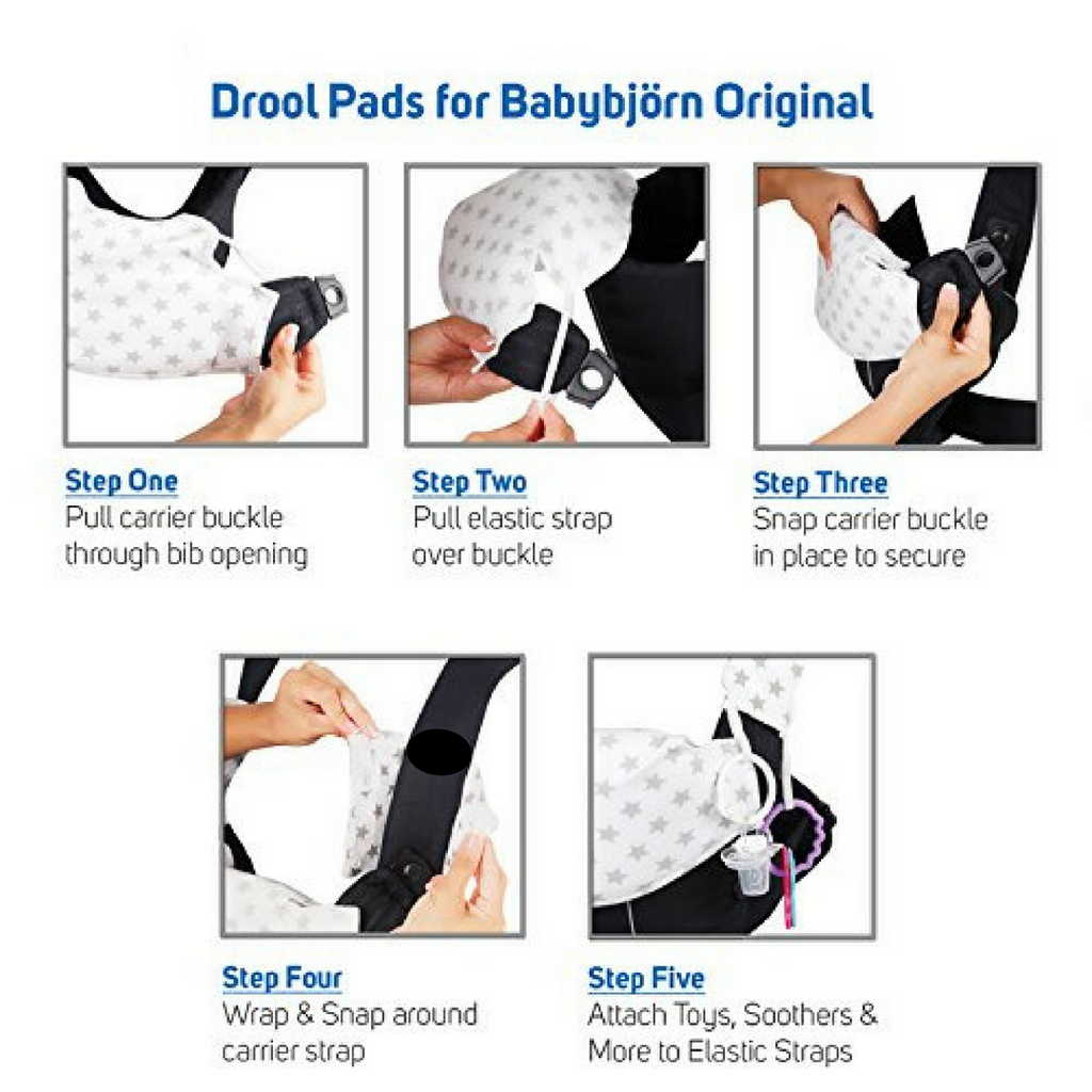 Baby Preferred® Drool and Teething Pads Designed to fit a BabyBjörn® Original Carrier