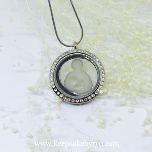 BREASTFEEDING SYMBOL GLASS LOCKET