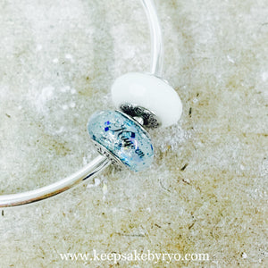 BREASTMILK EUROPEAN CHARM WITH BABY BLUE MIX