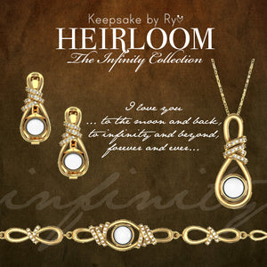 HEIRLOOM 14K INFINITY CHARM WITH CUBIC ZIRCONIA