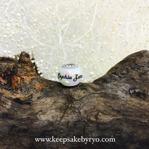 BREASTMILK EUROPEAN CHARM WITH HOLOGRAPHIC FLAKES