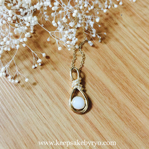 HEIRLOOM 14K INFINITY NECKLACE PENDANT WITH CUBIC ZIRCONIA