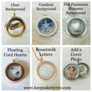 BREASTFEEDING SYMBOL (TANDEM) GLASS LOCKET