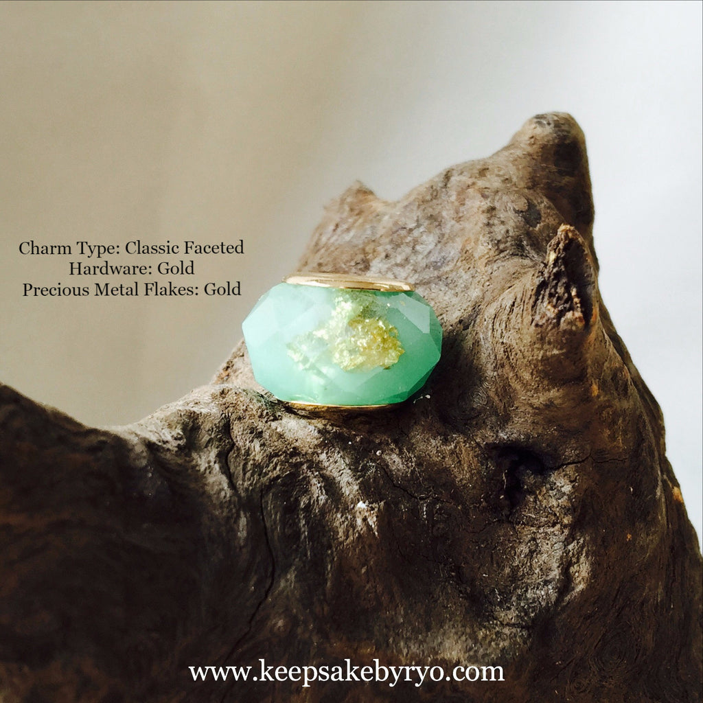 JADE GREEN MILK CHARM