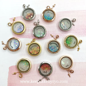 BIRTHSTONE SERIES GLASS LOCKETS
