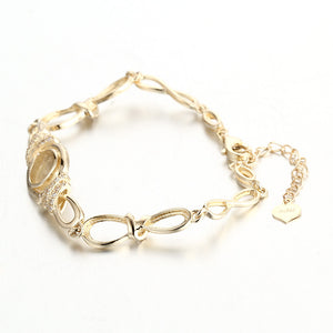 HEIRLOOM 14K INFINITY BRACELET WITH CUBIC ZIRCONIA