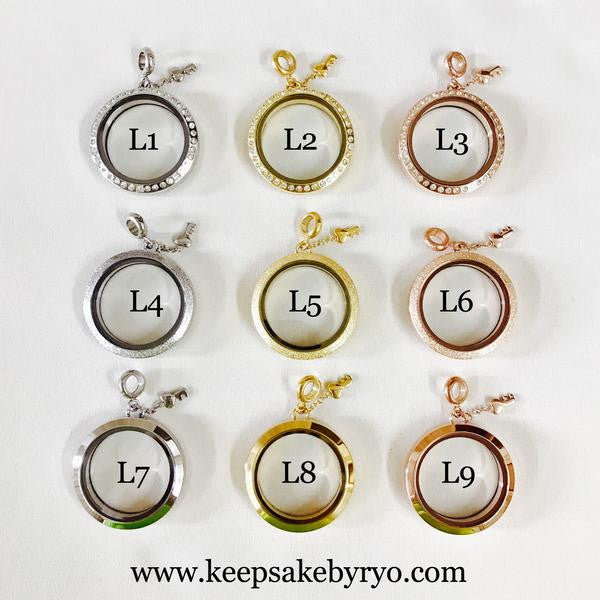 """福"" BREASTFEEDING FORTUNE SYMBOL LOCKET"