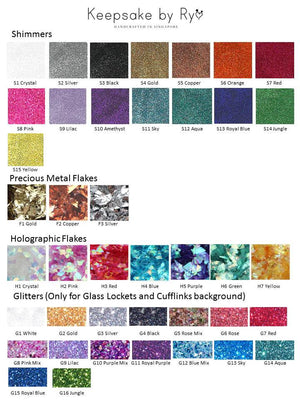 HOLOGRAPHIC & PRECIOUS METAL FLAKES COMBINATION EUROPEAN CHARM