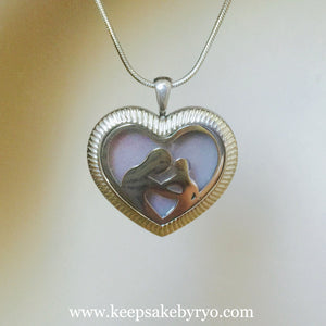 OPENWORK MAMA AND CHILD HEART SHAPED FILLED LOCKET