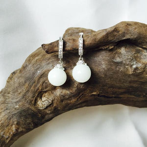 Breastmilk jewellery earrings