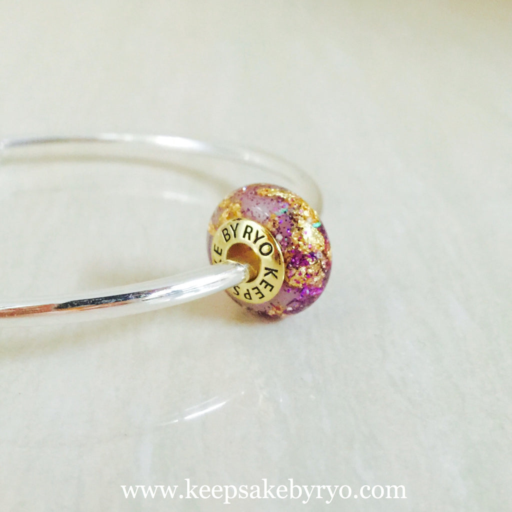 BREASTMILK CHARM WITH MAJESTIC PURPLE MIX AND GOLD FLAKES