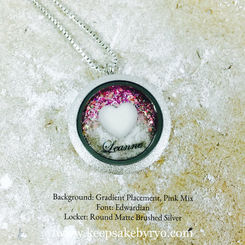 HEART AND NAME GLASS LOCKET