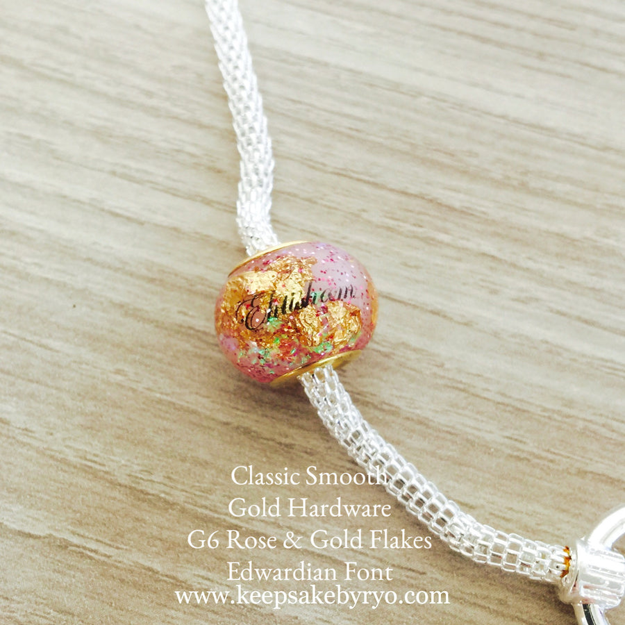 TRUST SPARKLE EUROPEAN CHARM WITH NAME INCLUSION