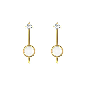 HEIRLOOM MOTHER AND CHILD EARRINGS 18K GOLD WITH DIAMOND