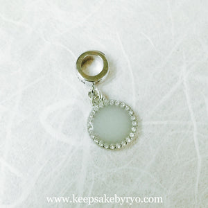 STERLING SILVER CUBIC ZIRCONIA DANGLING CIRCLE CHARM
