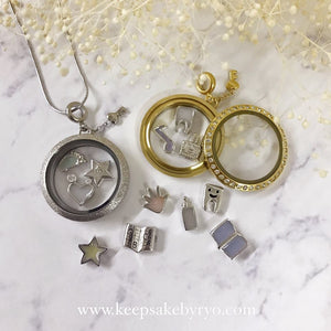 FLOATING CHARMS GLASS LOCKET
