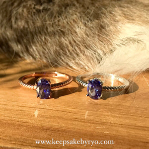 BIRTHSTONE GEMS: NAUTICAL BAND RING