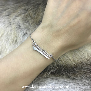 Engraved by Ryo: Name Bracelet