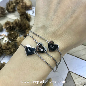 ENGRAVED BY RYO: HEARTS BRACELET (UP TO 5 HEARTS)