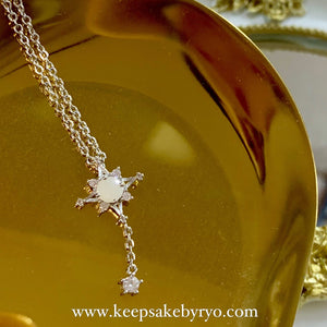 SOLITAIRE: SNOWFLAKE BREASTMILK NECKLACE