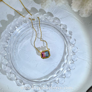 KEEPLETS COLLECTION: MERMAID TOURMALINE NECKLACE