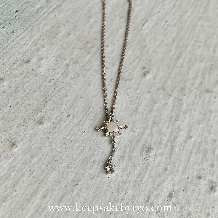 SOLITAIRE 18K: SNOWFLAKE BREASTMILK NECKLACE