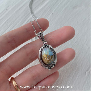 SEASCAPE ANDI OVAL LOCKET NECKLACE