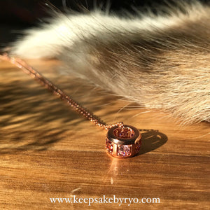 BIRTHSTONE GEMS: ETERNITY PENDANT