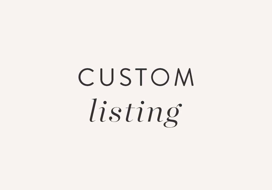 A Custom listing only