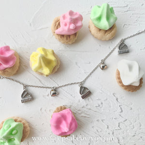 ICED GEM BISCUITS WITH HEART SHAPED BELLS