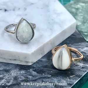 Chunky Teardrop Ring